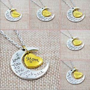 Jewelry - Moon heart necklace